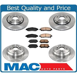 New Ft & Rr Brake Rotors Brake Pads Fits For 17-19 Acura MDX Will Not Fit Hybrid