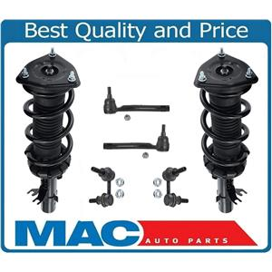 Front Struts Links & Tie Rods For 07-08 G35X 09-10 G37X 4DR All Wheel Drive
