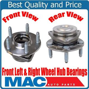 100% Brand New FRONT Left & Right Wheel Hub Bearings for Chevrolet Caprice 14-17