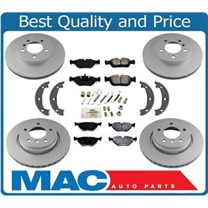 For BMW 01-05 325i Rear Wheel Drive Front & Rear Brake Rotors Metallic Pads 8pc