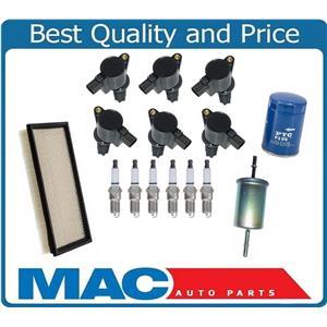 New Ignition Coils Platinum Plugs Oil Air Filter for Jaguar 00-02 S-Type 3.0 15p