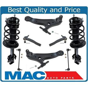 Fits 10-15 RX350 W/O Air Suspension Front Complete Struts + 6 Pcs Chassis Kit