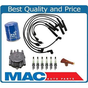 Spark Plugs Wires Cap Rotor 10pc Tune Up Kit for Mazda MPV 92-95 929 89-91 SOHC