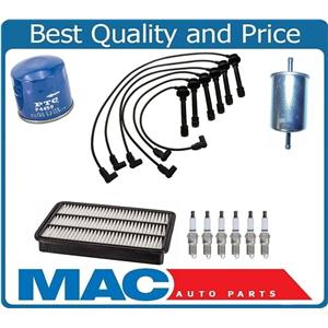 Ignition Spark Plug Wires Air Oil Gas Filter 10pc for Honda Passport 3.2L 94-95