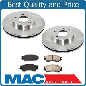 100% New Front Brake Disc Rotor Rotors & Pads 3pc for Mazda Millenia 2001-2002
