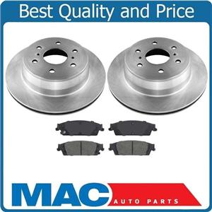3pc 100% New REAR Brake Rotors & Ceramic Pads for Chevrolet Tahoe Yukon 15-19
