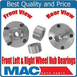 (2) 100% New Wheel Hub & Bearings Kit 63055K for Ford Focus 00-11 Escort 91-02