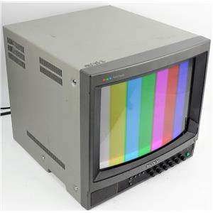 """Sony PVM-1340 13"""" CRT Color Video Display Monitor TESTED & WORKING"""