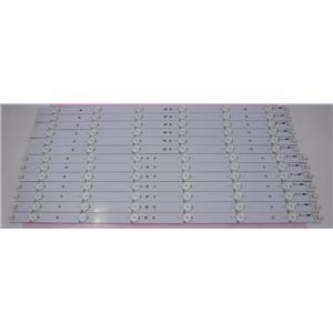 Vizio E500i-A1 LED Backlight Strip EPILC23F7C423-F46 Set of 13 Strips TESTED