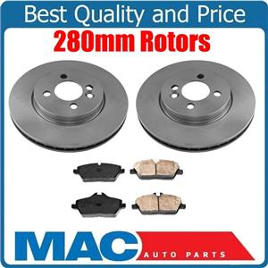 New Front Brake Rotors & Brake Ceramic Pads for Mini Cooper Clubman 1.6L 07-10