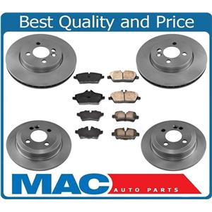 100% New Front & Rear Rotors Brake Pads for Mini Cooper Clubman 1.6L 07-10