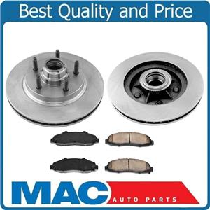 100% New Front Rotors & Brake Pads for Lincoln Blackwood Rear Wheel Drive 2002