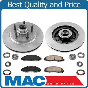 100% New Front Brake Rotors & Pads 9pc Kit Rear Wheel Drive for Ford F150 02-03