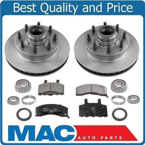 Front Rotors Brake Pads Bearings Seal for Chevrolet Express 2500HD 8 Lug 96-02