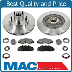 New Front Rotors Brake Pads Seals Bearings Rear Wheel Drive for Ford F150 97-00