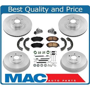 Rotors Drums Brake Pads Shoes Springs Cylinders for Subaru Forester 2.5L 03-08
