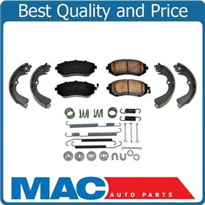 100% New Brake Pads Organic Shoes Spring Kit for Subaru Forester 2.5L 03-08