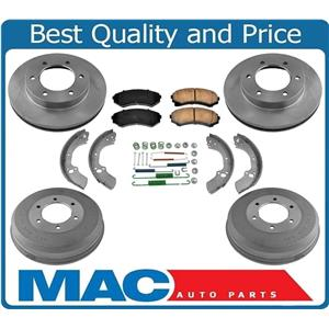 100% New Rotors Drums Brake Pads Shoes Springs for Isuzu Rodeo Sport 4x4 02-03