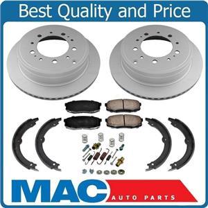 New Rear Disc Rotors Ceramic Brake Pads Spring Kit 5pc for Toyota Tundra 07-19