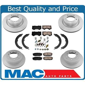 100% New Rotors Brake Pads Parking Shoes Spring Kit 8pc for Toyota Tundra 07-19