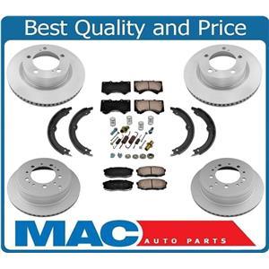 100% New Disc Brake Rotors Ceramic Pads Parking Shoes for Lexus LX570 08-15
