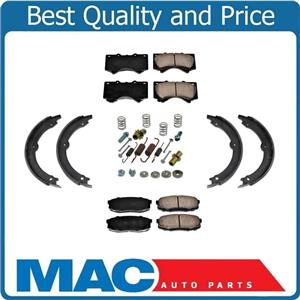 100% New Brake Pads Rear Parking Brake Shoes Springs Kit Toyota Tundra 07-19