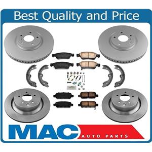 100% New Front Rear 330mm Rotors Brake Pads Brake Shoes for Infiniti Q60 14-15