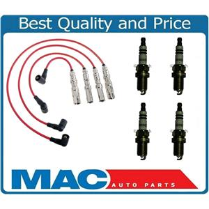 Fits 2001-2005 Volkswagen Beetle 2.0L Ignition Wires & Bosch Spark Plugs