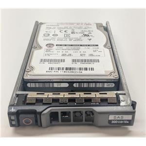 """EMC 300GB 10K 2.5"""" SAS 118032942 Hitachi 0B25687 w/ Dell R-series Tray"""