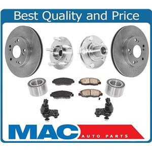 Brake Rotors Ball Joints Front Wheel Hub & Bearing Kits for Honda Civic DX 06-11