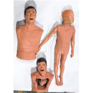 Lot of 3 Medical Training Health Education CPR Manikin