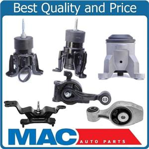 100% New 6pc Engine Mounts FRONT WHEEL DRIVE for Nissan Pathfinder 3.5L 13-16