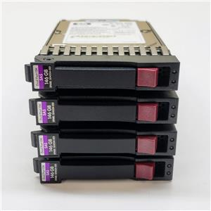 "Lot of 4 HP 146GB 15K SAS 2.5"" Dual Port 504334-001 512544-002 418373-009"