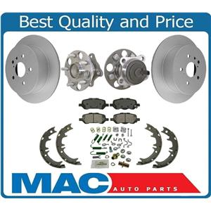 REAR Wheel Hubs Rotors Brake Pads Shoes FRONT WHEEL DRIVE for Toyota Venza 09-16