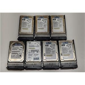 Lot of 7 HP 72GB 10K SAS 6G Single Port 395924-002 375863-004 376597-001