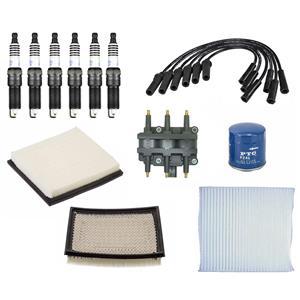 Tune Up Kit Filters Coils Plugs & Wires fits 08-10 Dodge Grand Caravan 3.3L 3.8L