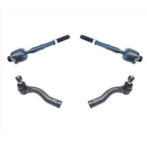 Fits For 06-12 Ford Fusion Front Inner & Outer Tie Rods 100% New 4Pc Kit