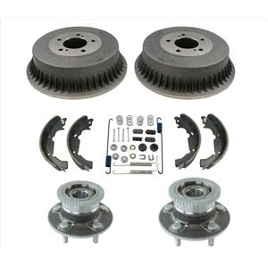 New Rear Drums Brake Shoes Hub Bearings Spring Kit Fit for Nissan Quest 97-02 6p
