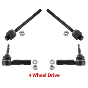 Fits 2000-2003 Dakota Durango 4 Wheel Drive Inner & Outer Tie Rod Ends 4 Pcs
