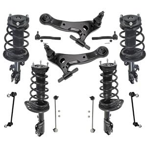 Front & Rear Struts Control Arms Tie Rods Fits Toyota Camry Hybrid 07-11 12Pcs