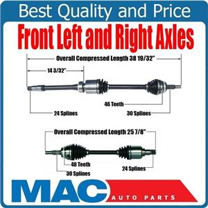 100% New Front Left & Right Complete CV Shaft Axles for Lexus ES350 2007-2012