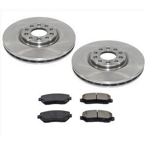 Front Ceramic Pads & Disc Brake Rotors for 2013-2016 Dodge Dart