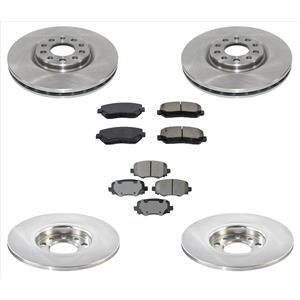New Brake Disc Rotors Ceramic Pads Fits For Only With 305MM 15-17 Chrysler 200