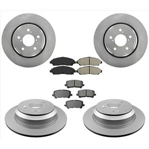 100% New Ft & Rr Brake Rotors Brake Pads Fits For 17-19 Honda Ridgeline 6pc Kit