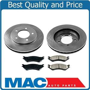 New Front Rotors & Brake Pads for Ford Expedition 97 to Production Date 11/28/99