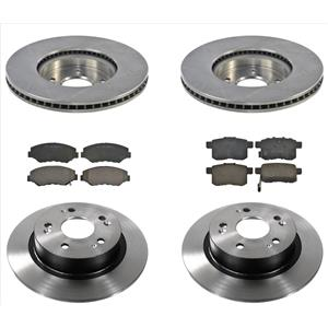 6p Brake Pads Disc Rotors Fits For 13-17 2.4 Engine Accord EX-L EX  292MM ROTORS
