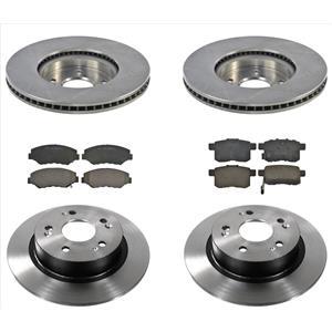 6pc Brake Disc Rotors & Ceramic Pads Fits For 13-15 Honda V6 3.5L 292MM