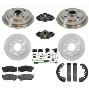 Rotors Pads Drums Shoes Spring Kit Wheel Cylinder Fits For 95-97 Geo Metro 2Door