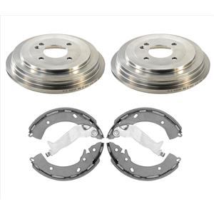 New Rear Brake Drums Brake Shoes Fits For 13-19 Hyundai Accent SE 3pc Kit