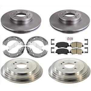 Disc Brake Rotors Drums Brake Shoes & Pads Fits For Hyundai Accent SE 13-17 6pcs